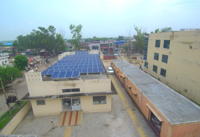 80kW Grid Tied Solar Power Plant at Majestic Rubbers, Jalandhar, Punjab