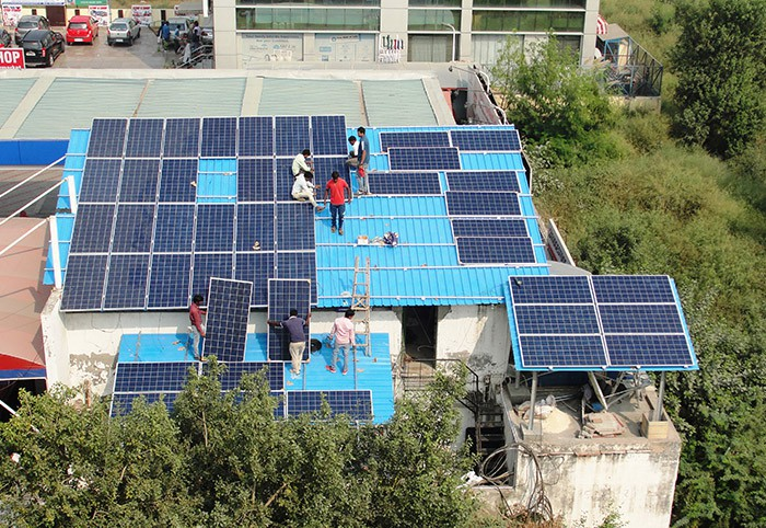 18 KW Grid Tied Solar Plant on Indian Oil Petrol Pump in Dwarka, Delhi