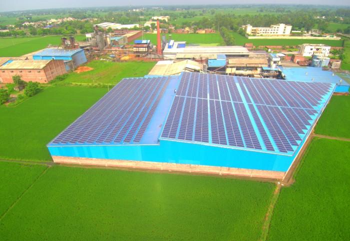 700kW Solar Power Plant at Krishna Rice Mill, Kapurthala, Punjab
